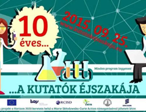 Kutatók Éjszakája 2015: Budapesten és Debrecenben is megjelenik az EJMSZ